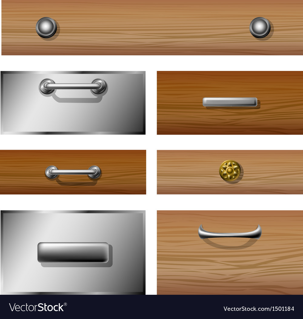 Drawer front set vector | Price: 1 Credit (USD $1)