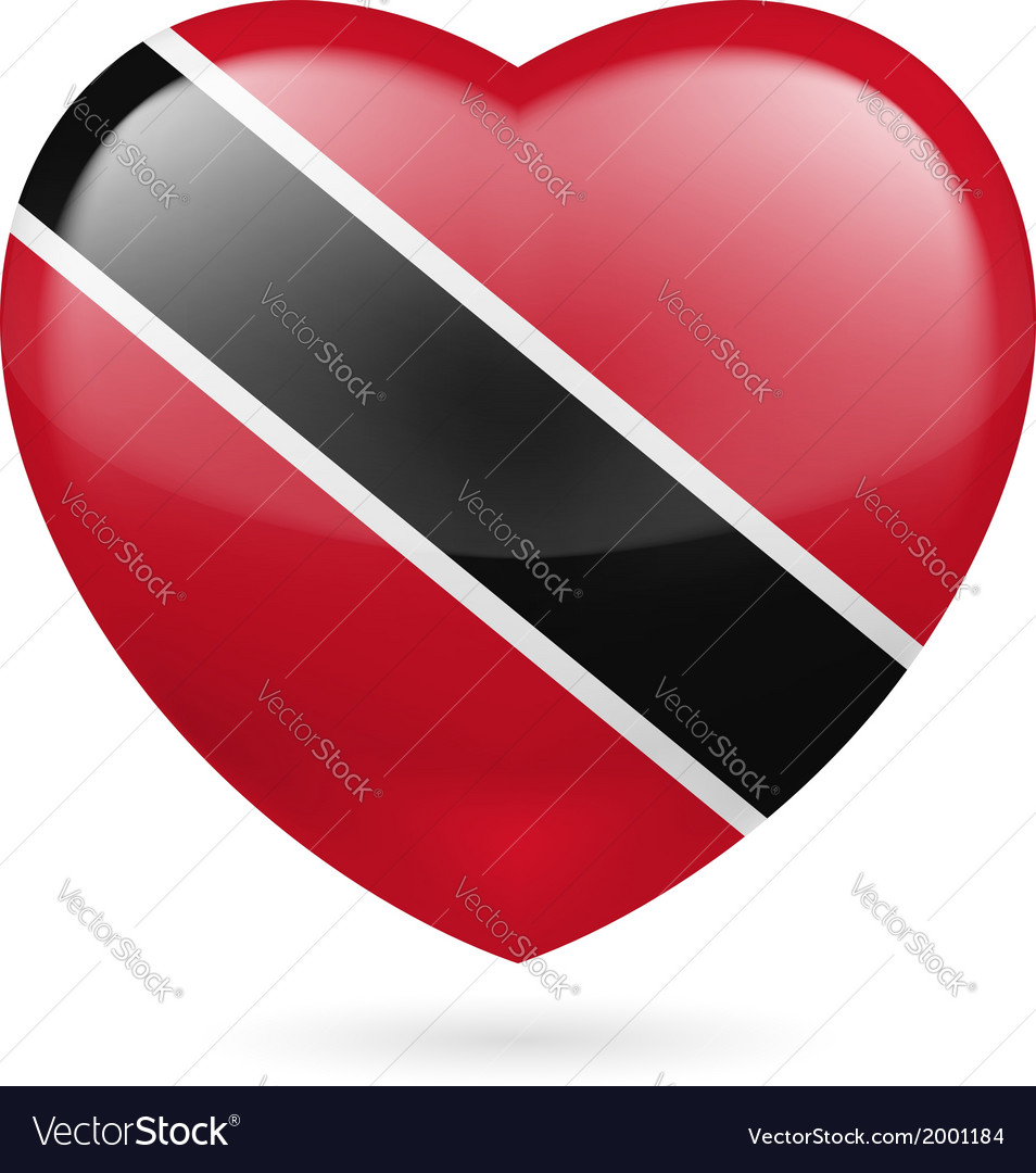 Heart icon of trinidad and tobago vector | Price: 1 Credit (USD $1)