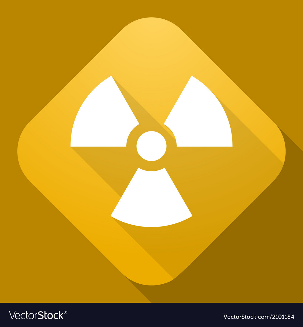 Icon of radiation sign with a long shadow vector | Price: 1 Credit (USD $1)