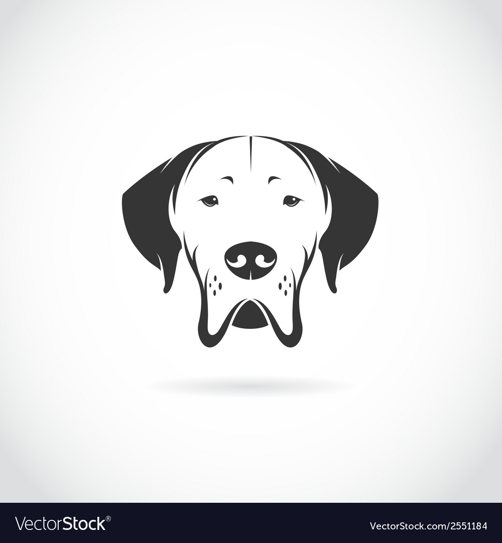 Image of dog head vector | Price: 1 Credit (USD $1)