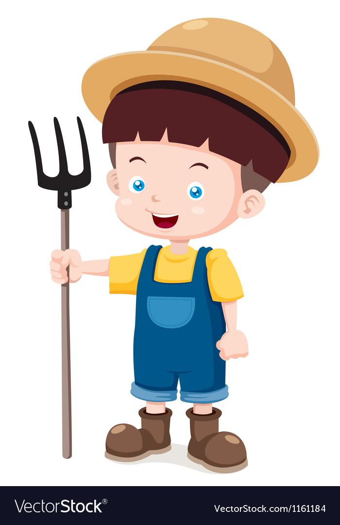 Little farmer vector | Price: 1 Credit (USD $1)