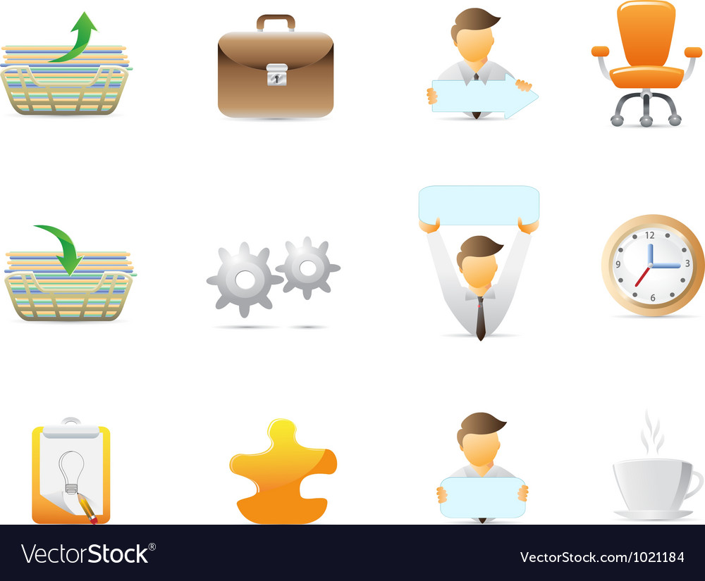 Office stuffs icons vector | Price: 1 Credit (USD $1)