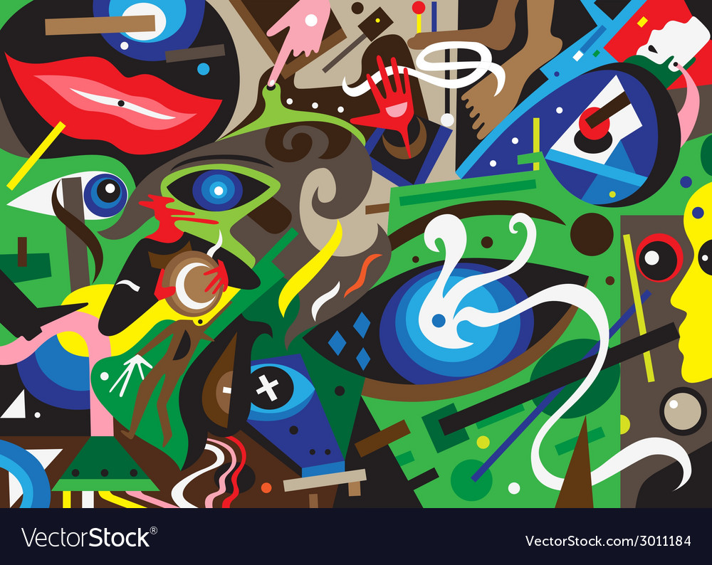 Psychology abstract background vector | Price: 1 Credit (USD $1)