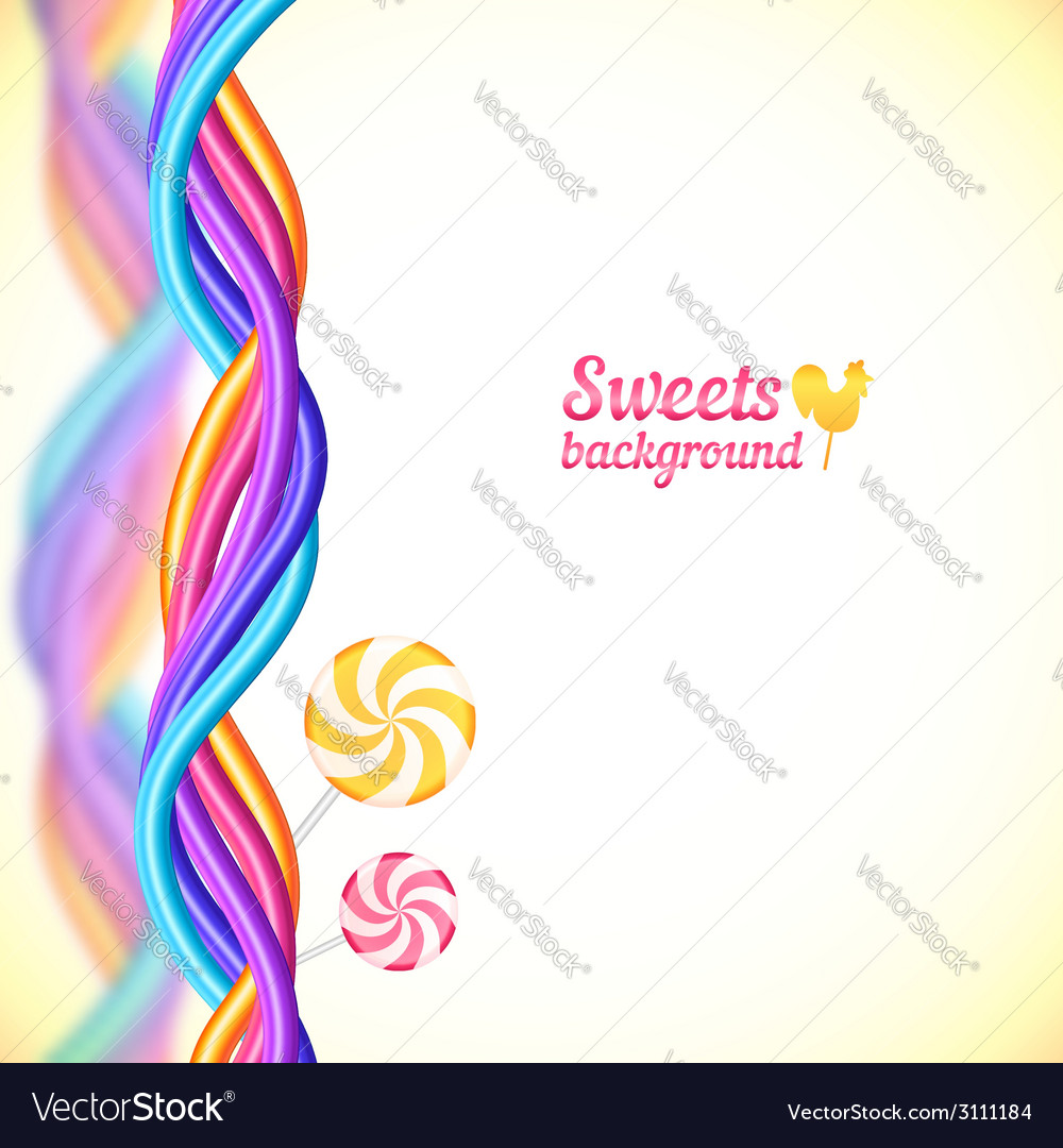Round candy rainbow colors sweets background vector | Price: 1 Credit (USD $1)