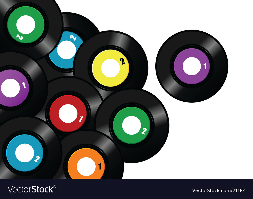 Vinyl record background vector | Price: 1 Credit (USD $1)