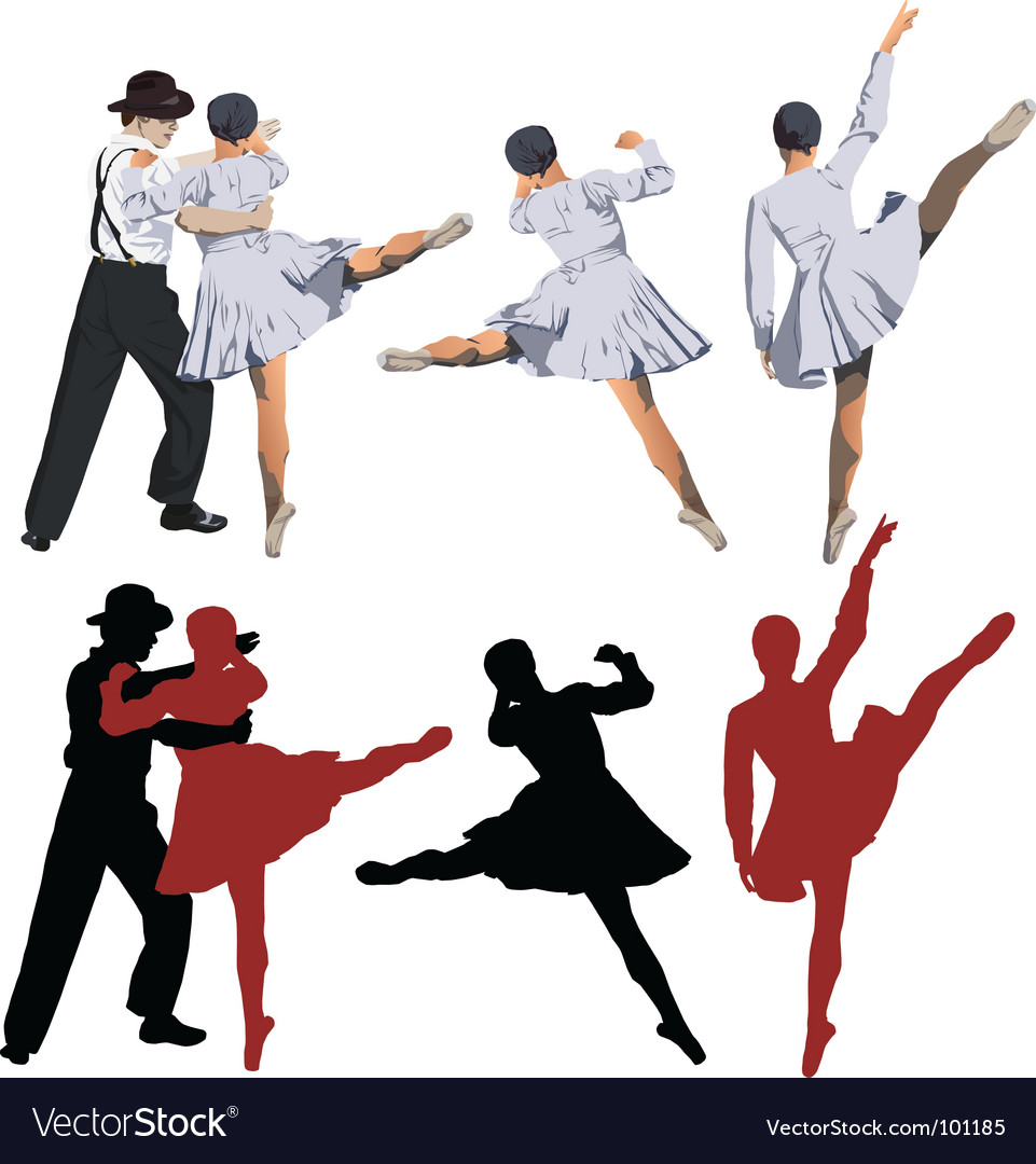 Ballerina silhouettes vector | Price: 1 Credit (USD $1)