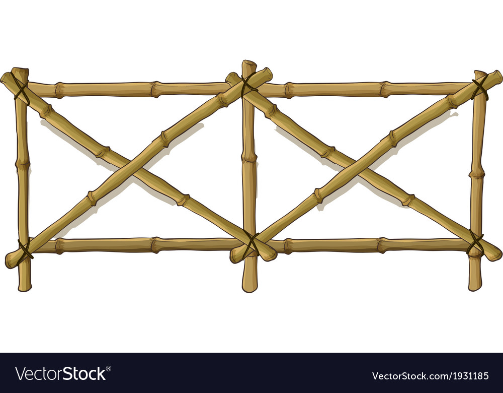 Bamboo fence vector | Price: 1 Credit (USD $1)