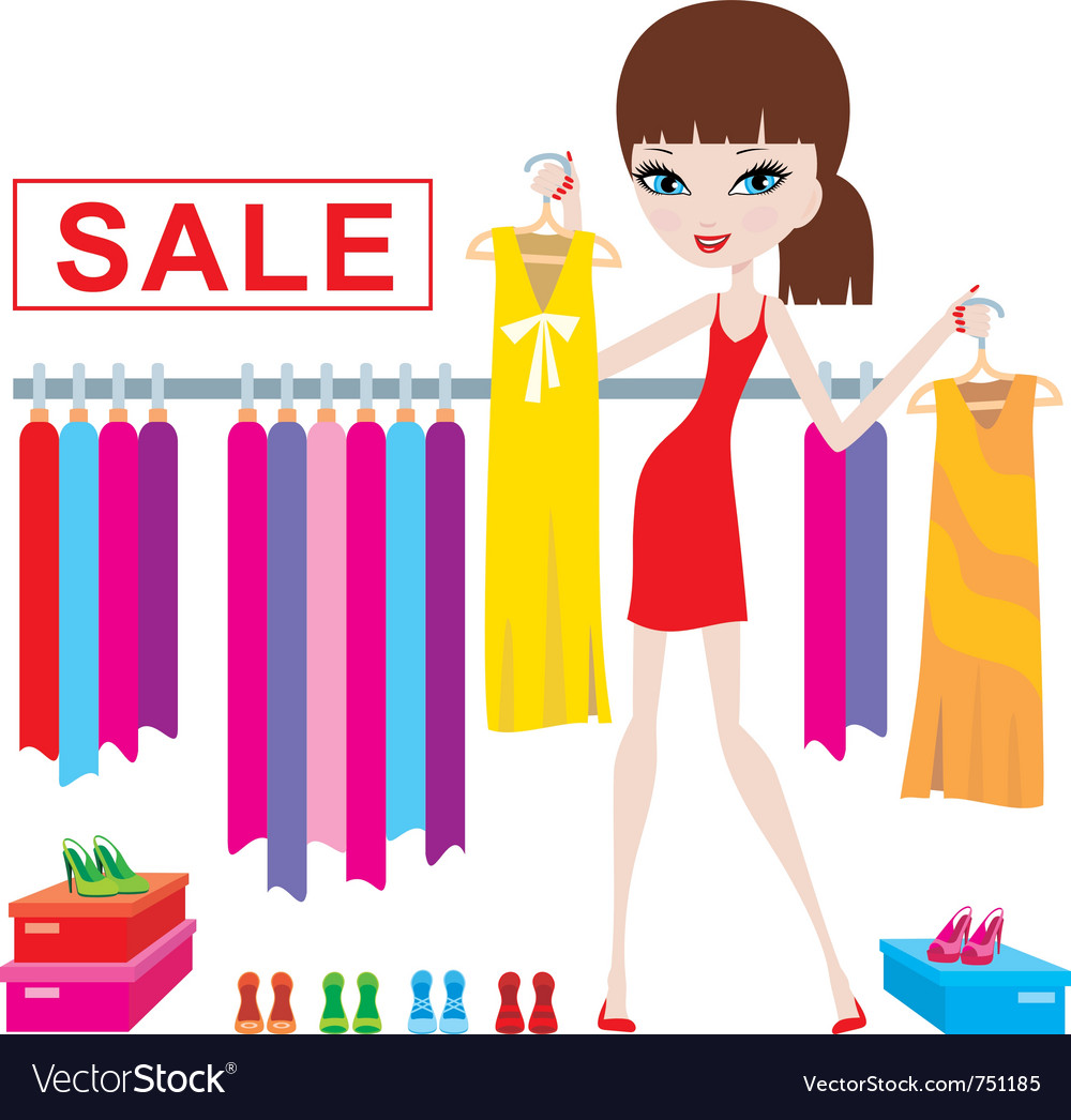 Clothes and footwear sale vector | Price: 3 Credit (USD $3)