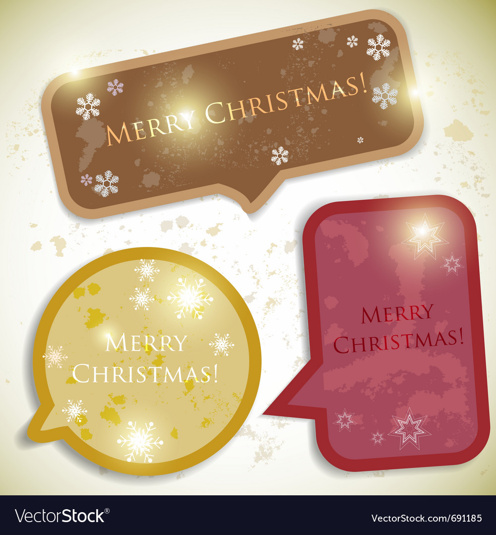 Colorful bubbles for speech christmas design vector | Price: 1 Credit (USD $1)