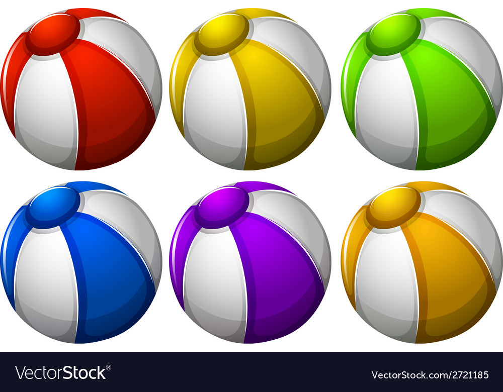Colourful beachballs vector | Price: 1 Credit (USD $1)