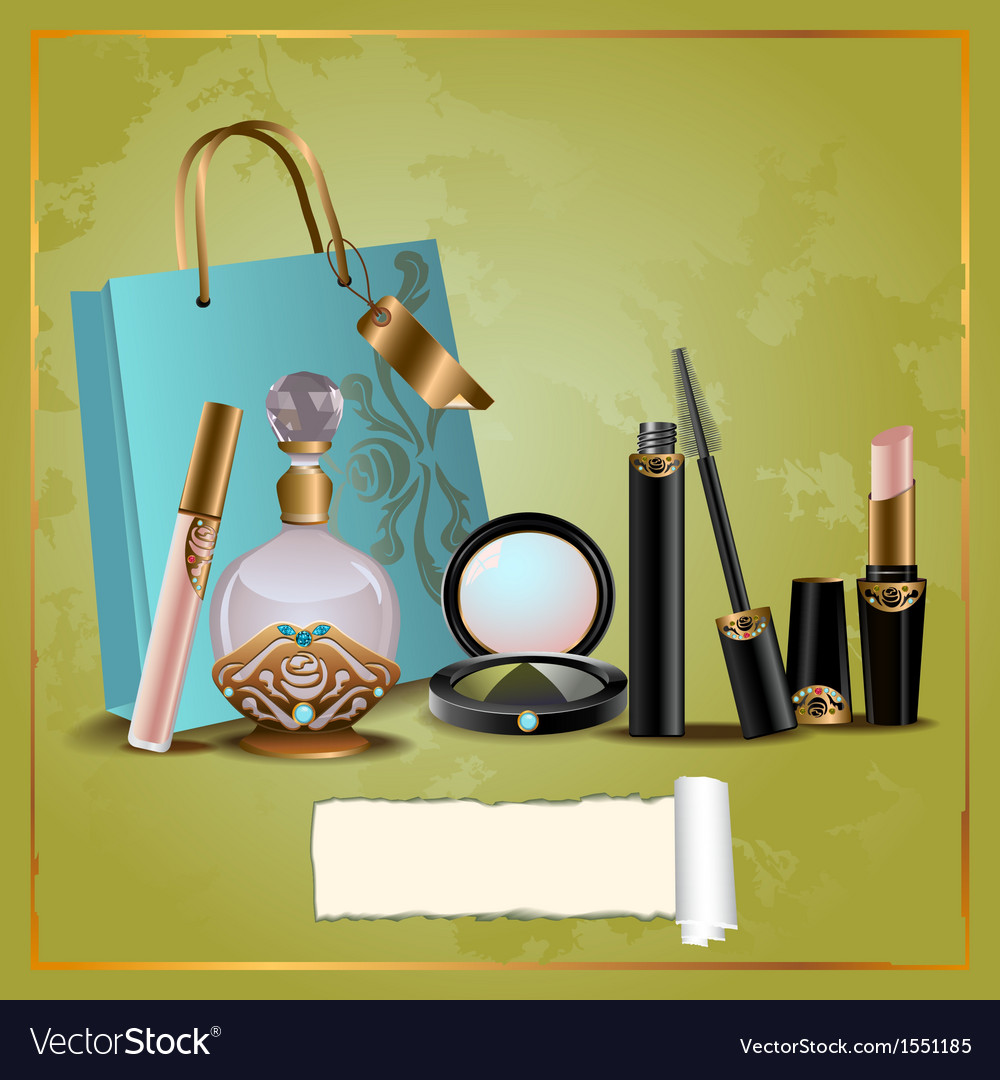 Cosmetics gift set vector | Price: 1 Credit (USD $1)