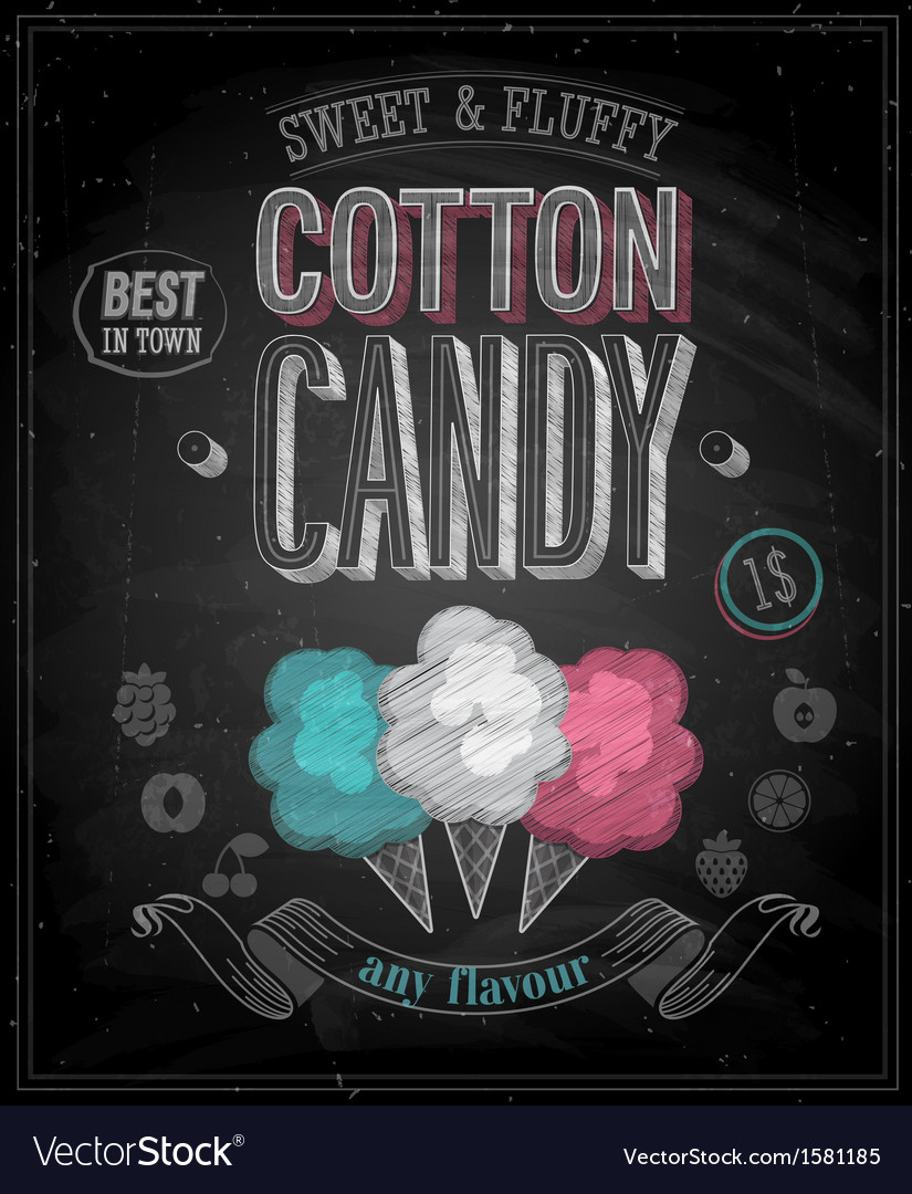 Cotton candy chalk vector | Price: 1 Credit (USD $1)
