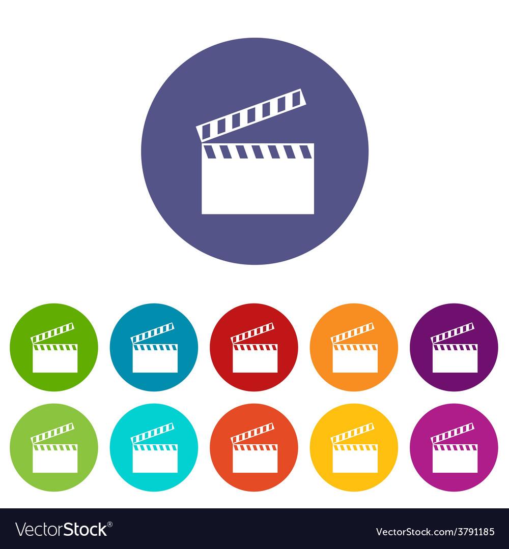 Film flat icon vector   Price: 1 Credit (USD $1)
