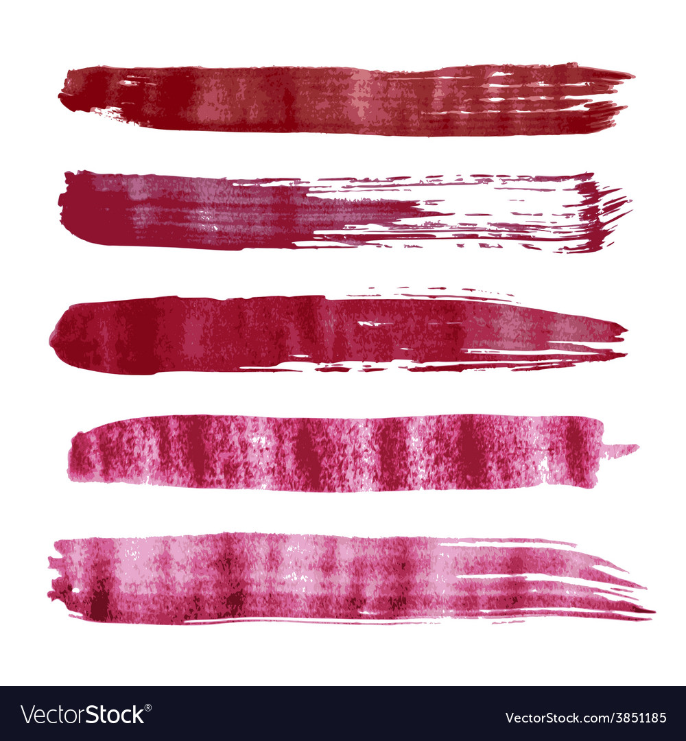 Red watercolor brush strokes vector | Price: 1 Credit (USD $1)