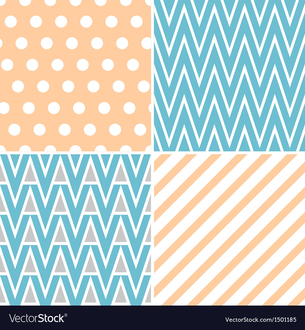 Set of abstract seamless patterns vector | Price: 3 Credit (USD $3)