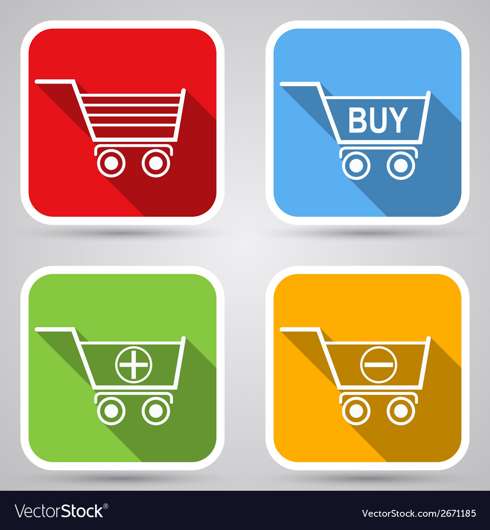 Shopping cart icons vector | Price: 1 Credit (USD $1)