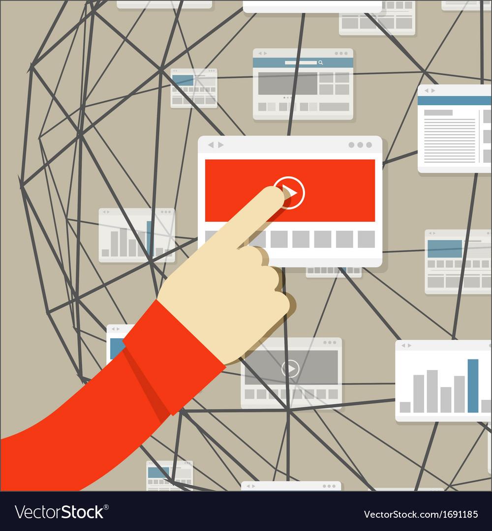 Using modern digital media environment vector | Price: 1 Credit (USD $1)
