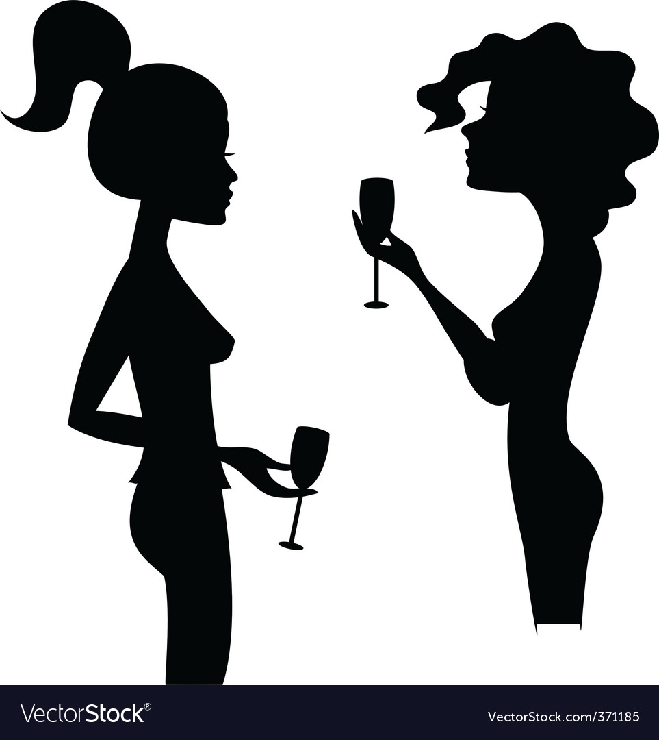 Women and wine vector | Price: 1 Credit (USD $1)