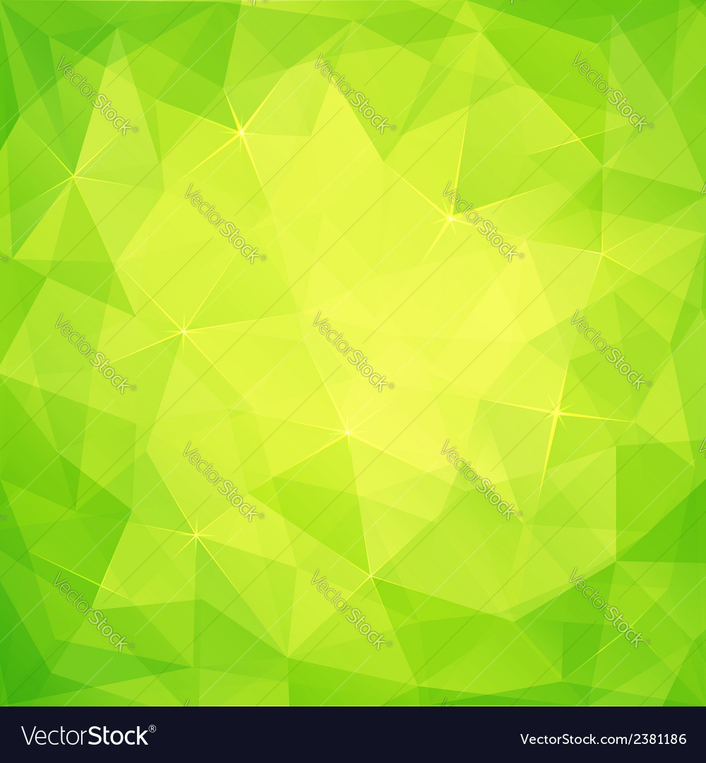 Abstract triangles green background vector | Price: 1 Credit (USD $1)