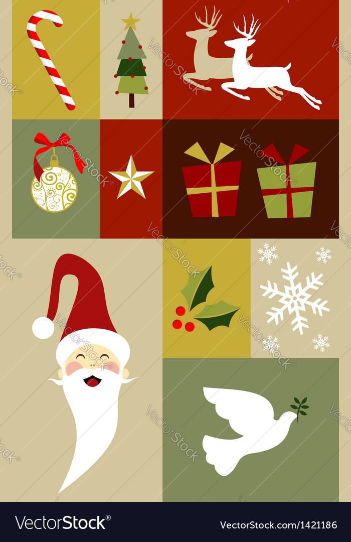Christmas decoration set vector   Price: 1 Credit (USD $1)