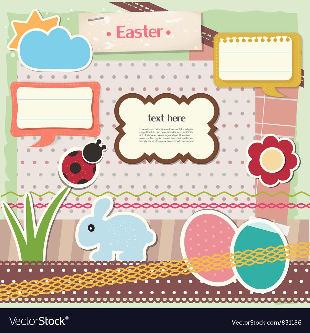 Easter scrapbook set vector   Price: 1 Credit (USD $1)