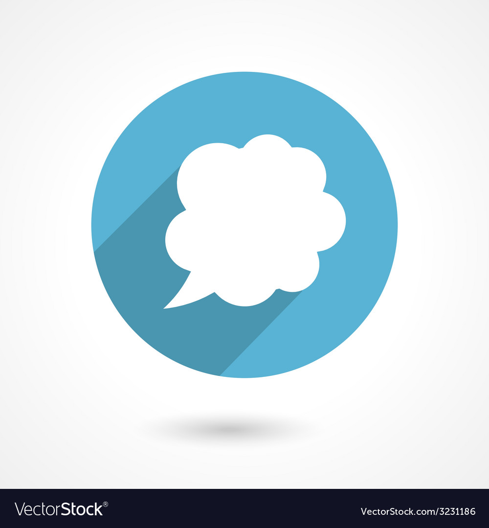 Flat speech bubble icon vector | Price: 1 Credit (USD $1)