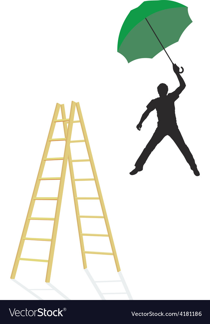 Jump man from the ladder vector | Price: 1 Credit (USD $1)