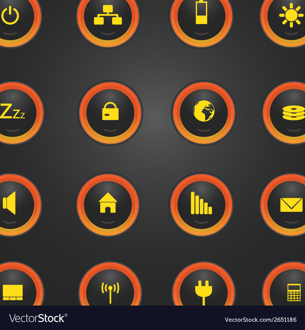 Laptop and pc indication light buttons eps10 vector | Price: 1 Credit (USD $1)
