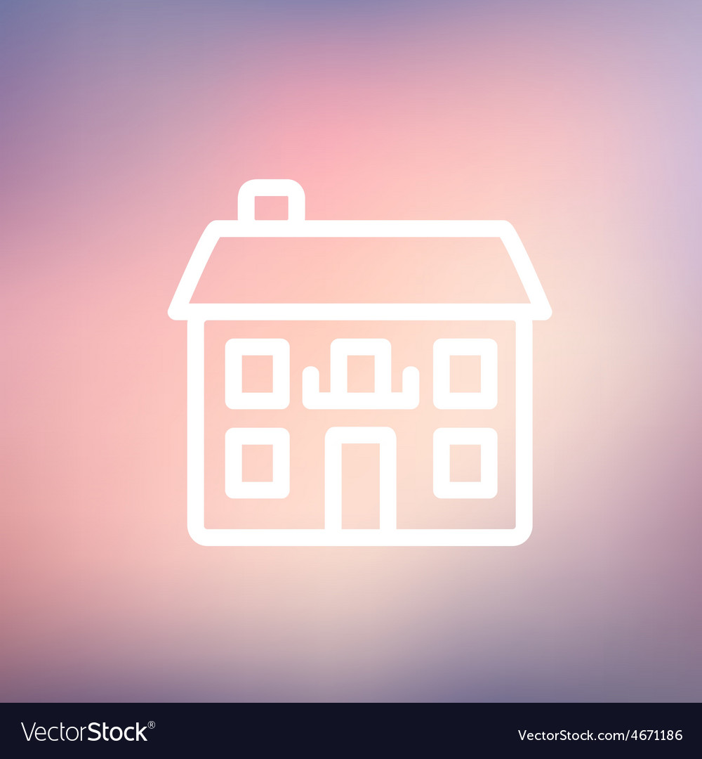 Real estate house thin line icon vector | Price: 1 Credit (USD $1)