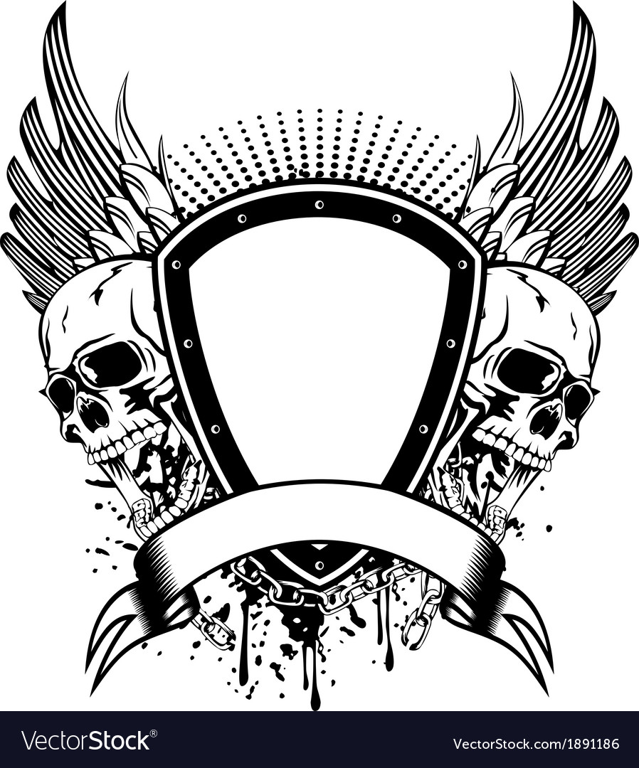Skull board and wings vector | Price: 1 Credit (USD $1)