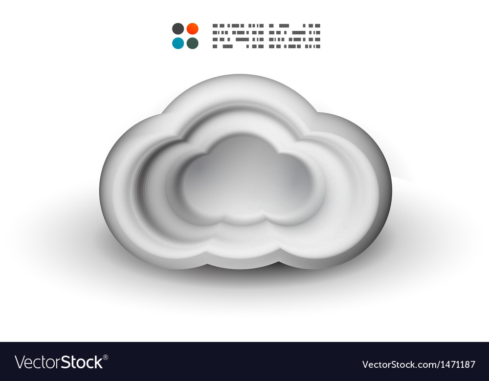 3d white clouds vector | Price: 1 Credit (USD $1)