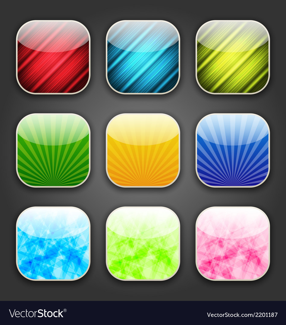 Abstract backgrounds for the app icons vector   Price: 1 Credit (USD $1)