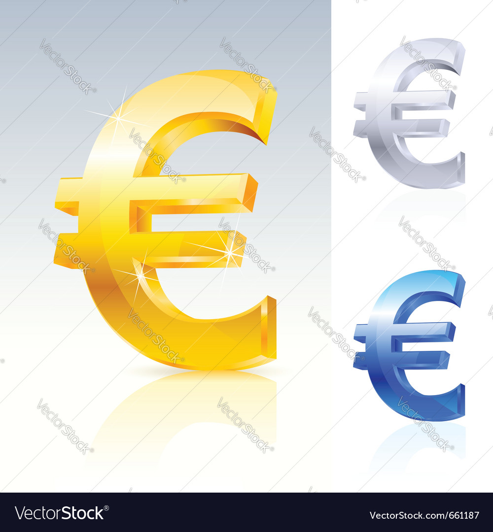 Abstract euro sign vector | Price: 1 Credit (USD $1)