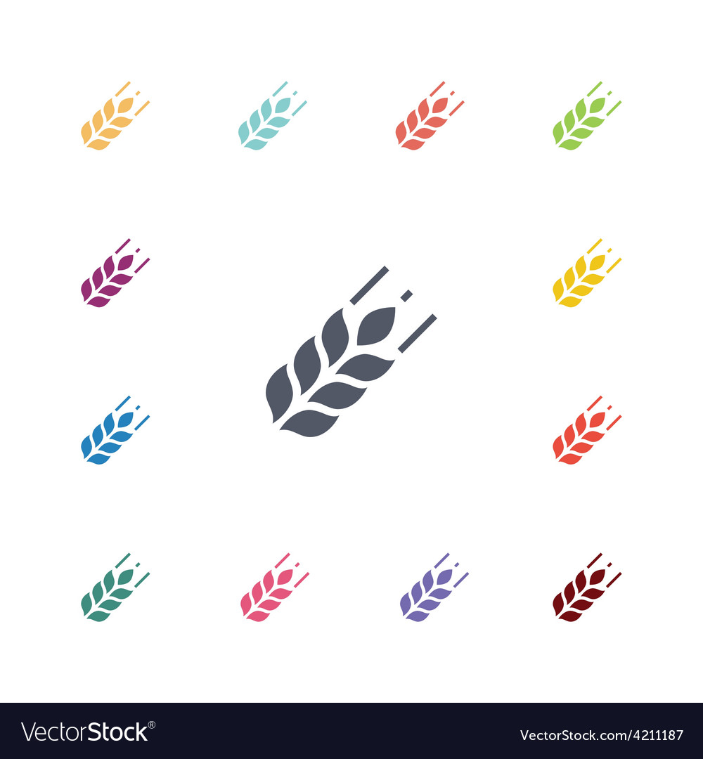 Agriculture flat icons set vector | Price: 1 Credit (USD $1)