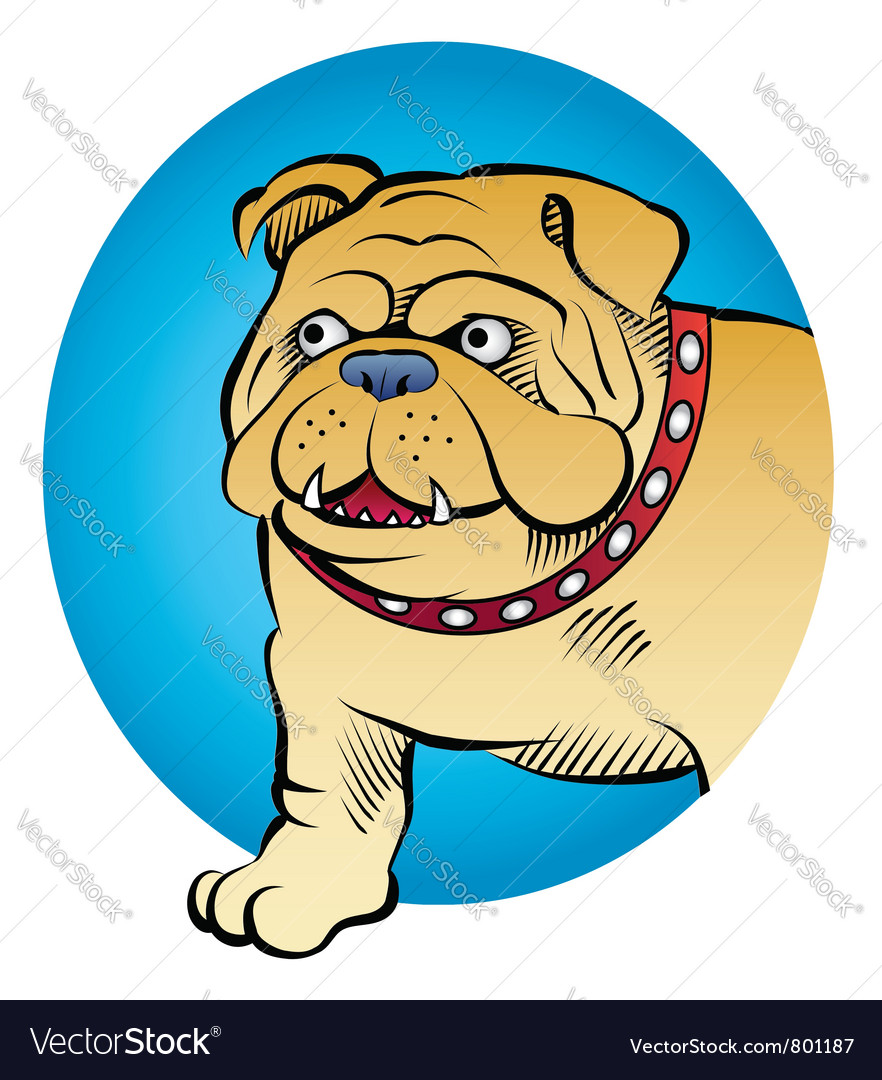 Bulldog comic style vector | Price: 3 Credit (USD $3)