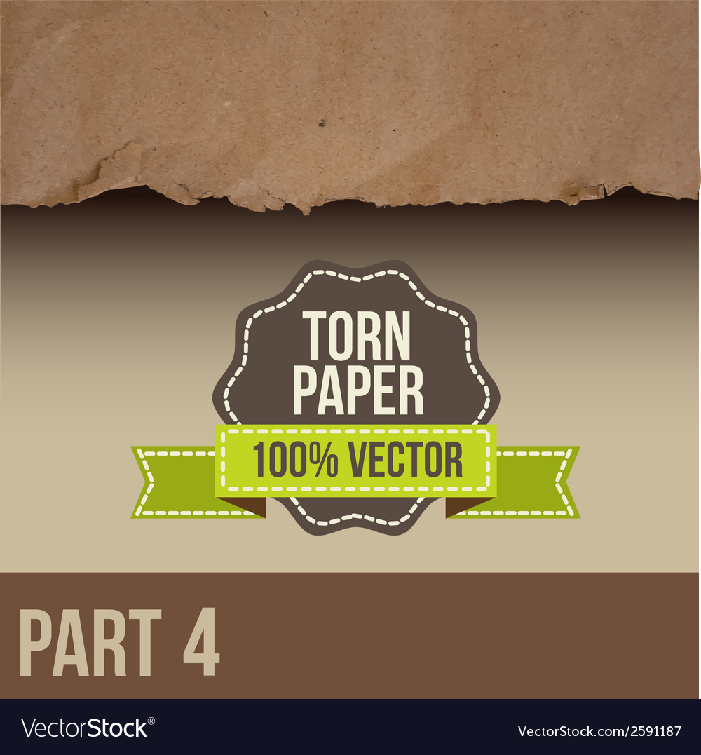 Collection of white torn paper vector | Price: 1 Credit (USD $1)