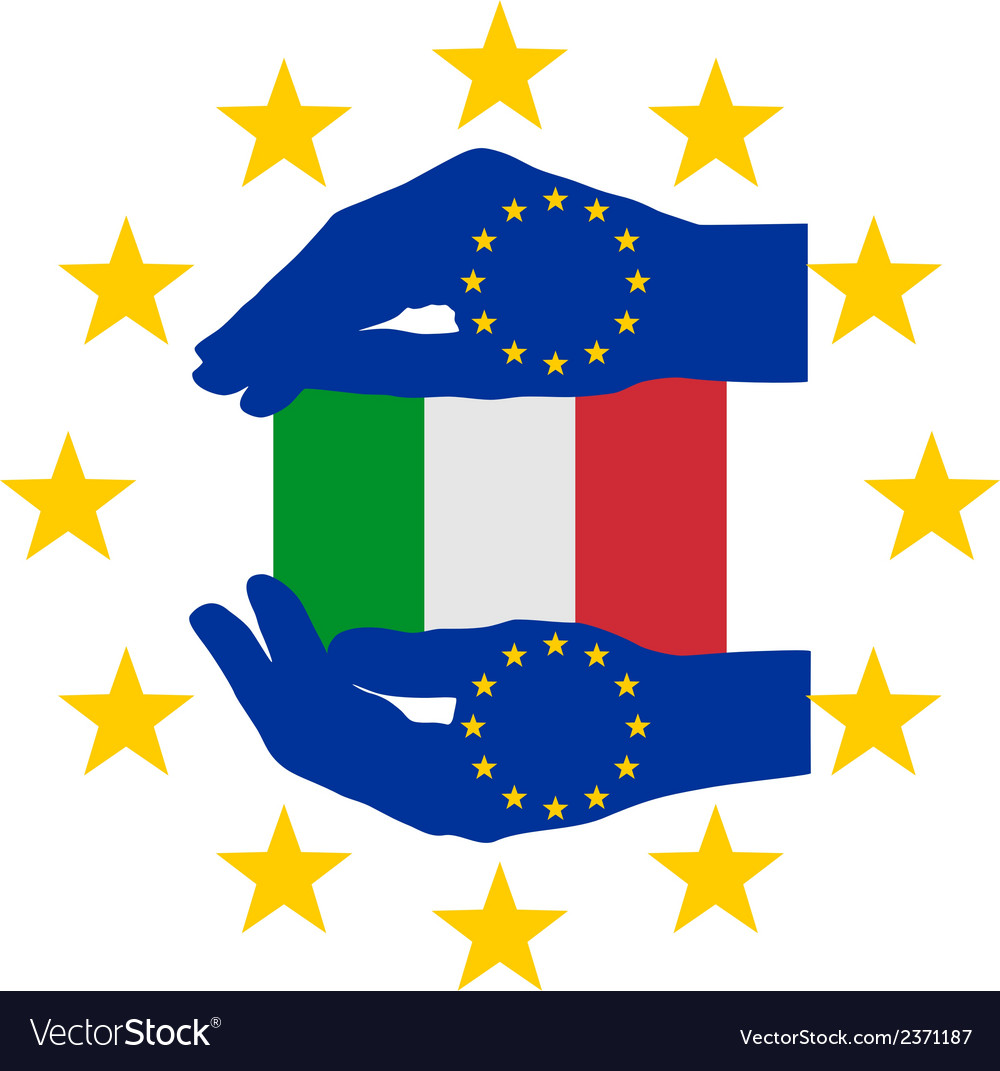 European help for italy vector | Price: 1 Credit (USD $1)