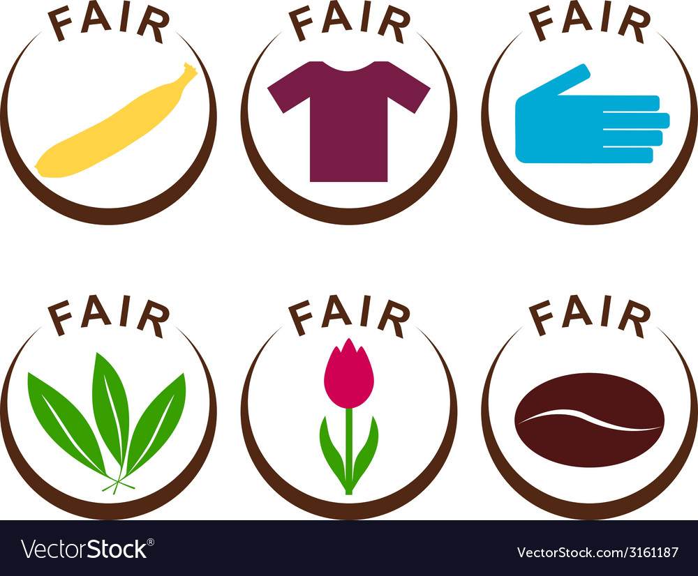 Fair trade products vector | Price: 1 Credit (USD $1)