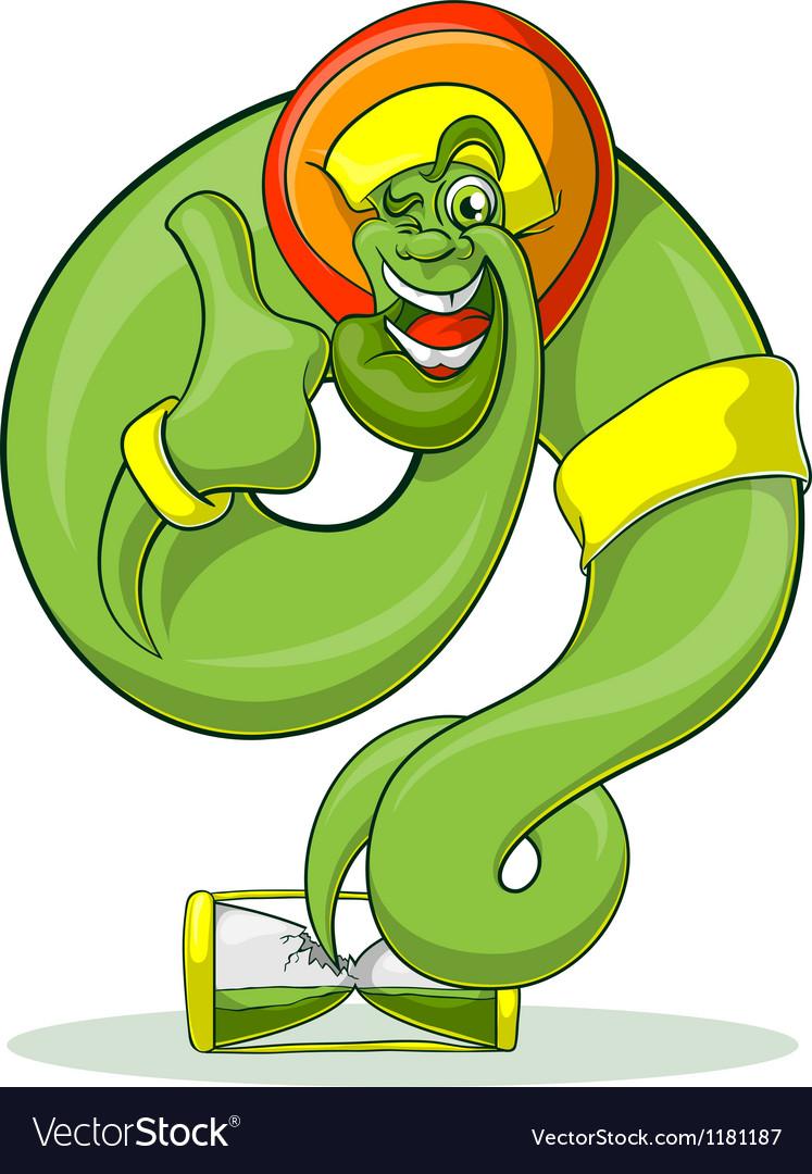Green genie rastaman vector | Price: 3 Credit (USD $3)