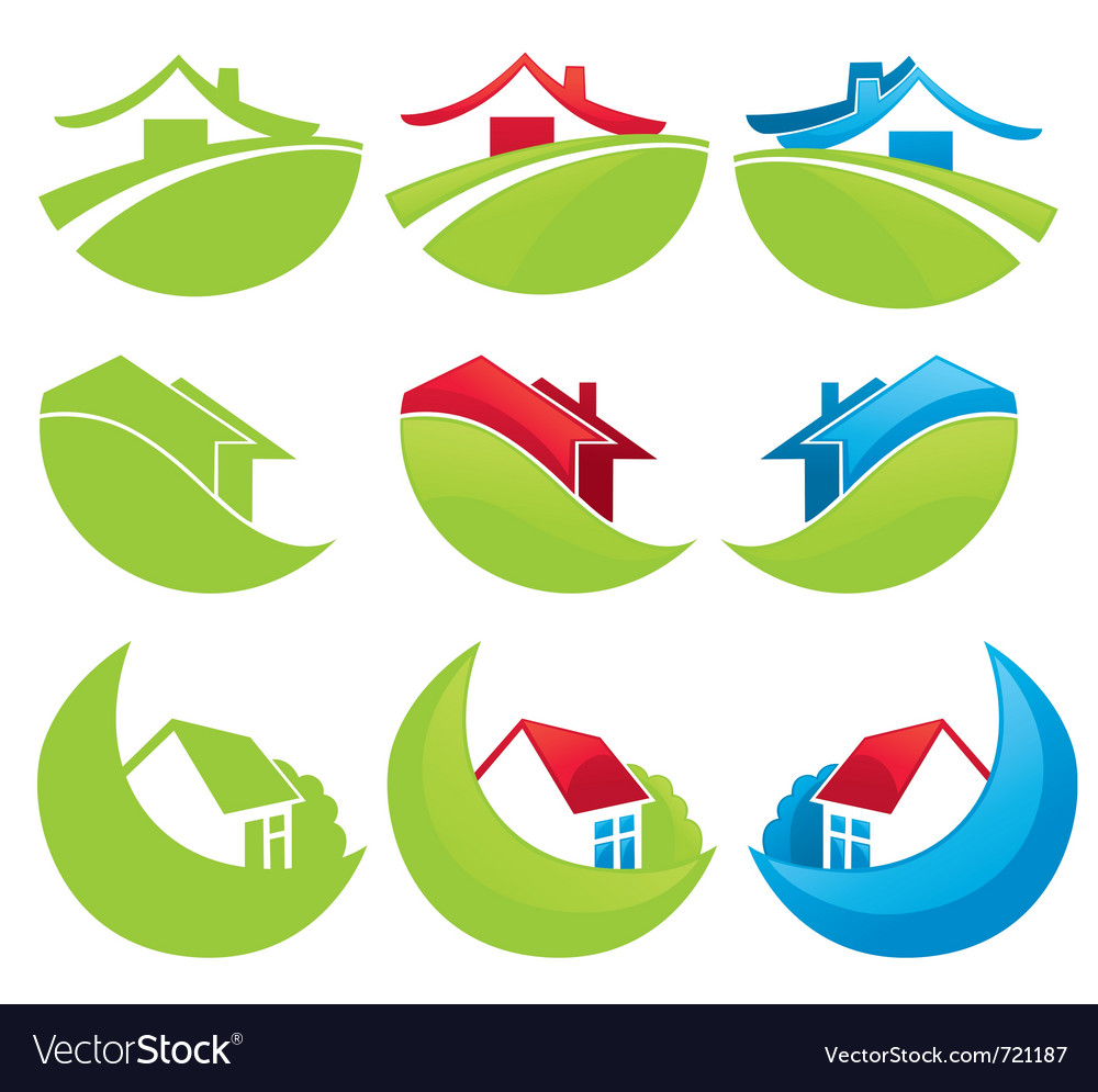 Homes and houses vector | Price: 1 Credit (USD $1)