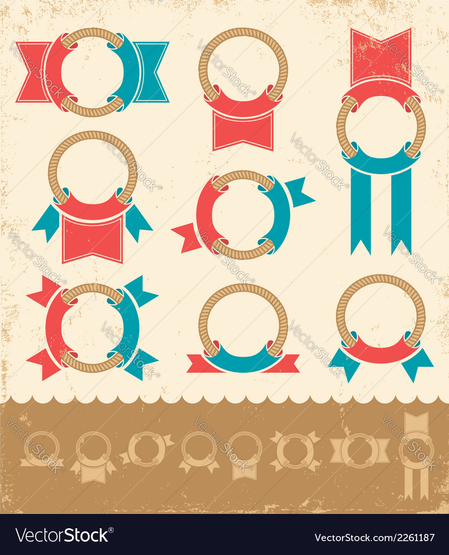 Marine banners color vector | Price: 1 Credit (USD $1)