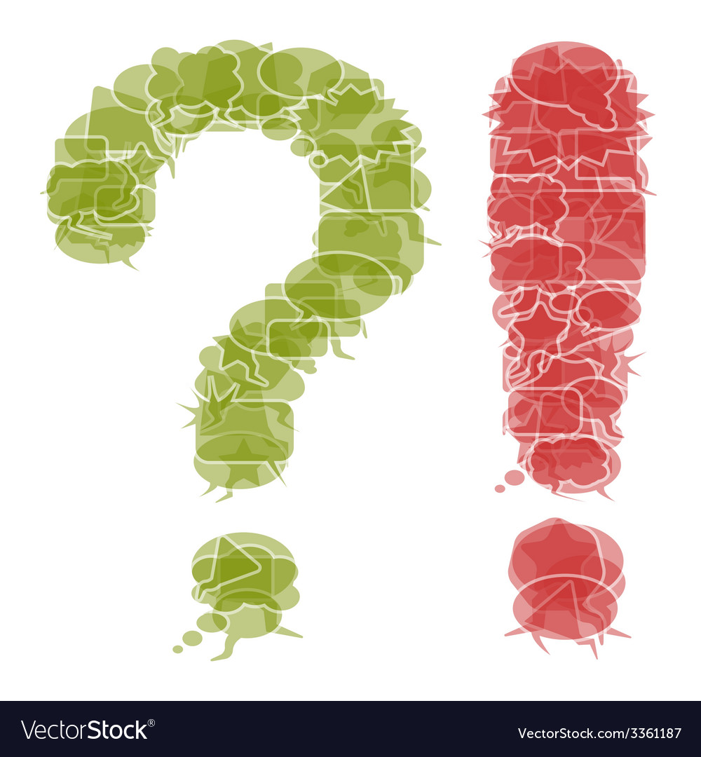 Question and exclamation mark vector | Price: 1 Credit (USD $1)
