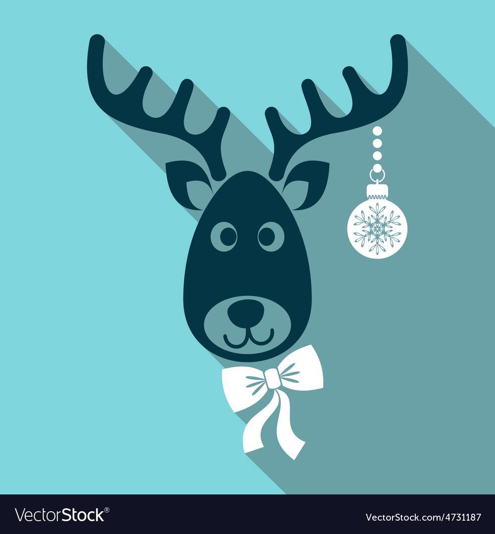Reindeer face vector | Price: 1 Credit (USD $1)