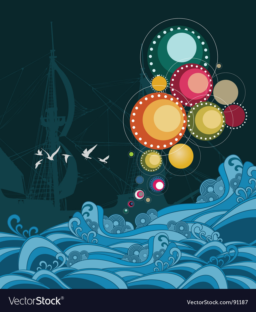 Sea abstract vector | Price: 3 Credit (USD $3)
