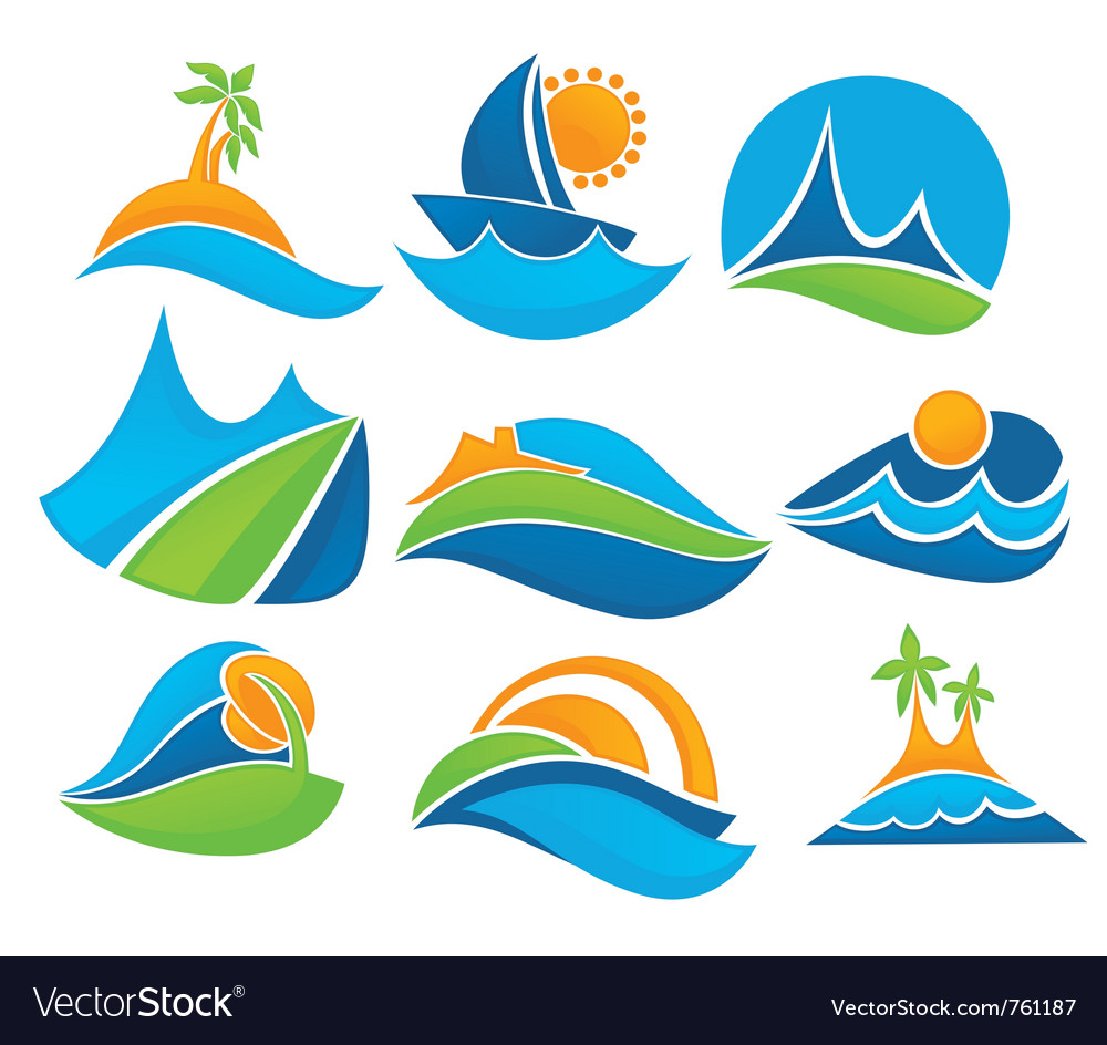 Summer tourism vector | Price: 1 Credit (USD $1)