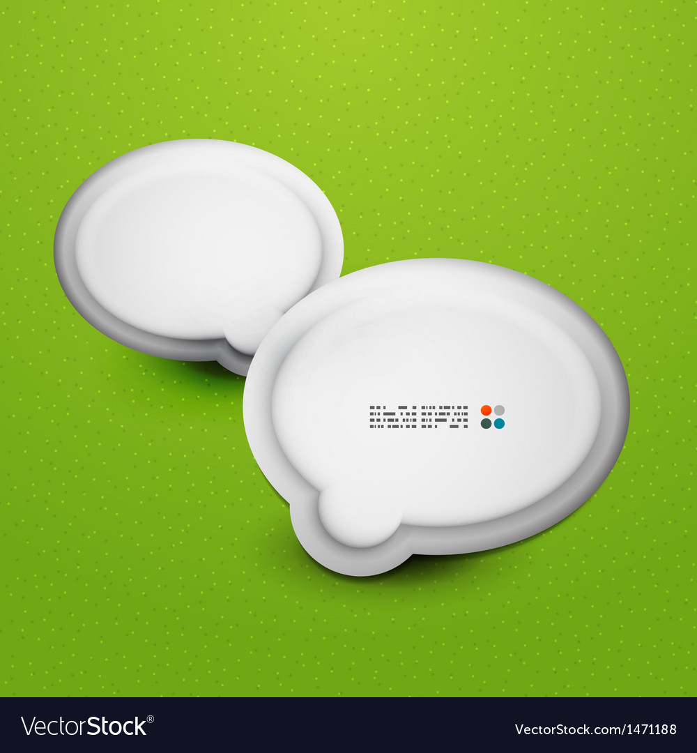 3d white speech bubble modern template vector | Price: 1 Credit (USD $1)