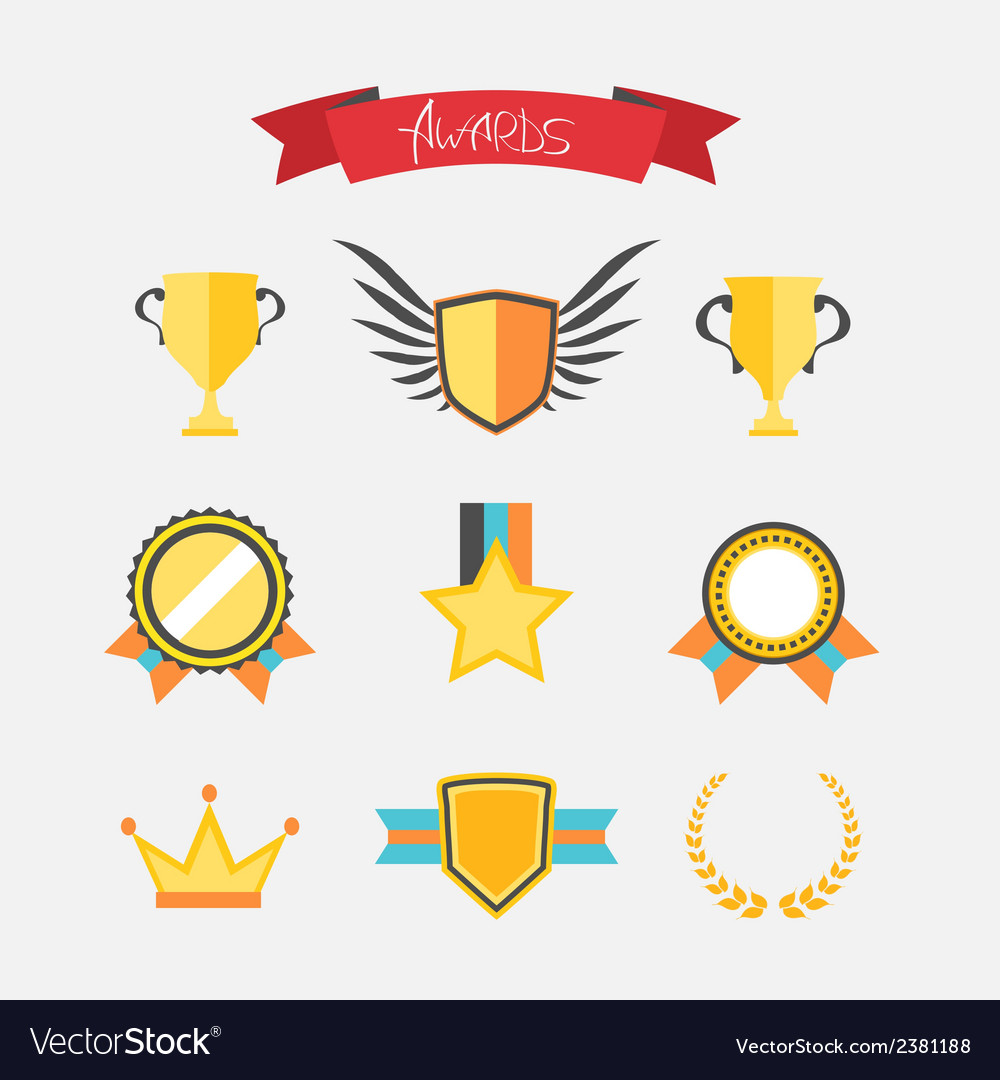 Awards collection vector | Price: 1 Credit (USD $1)