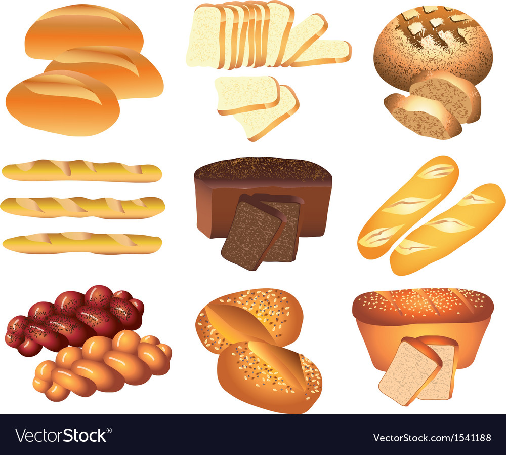 Bakery set vector | Price: 3 Credit (USD $3)