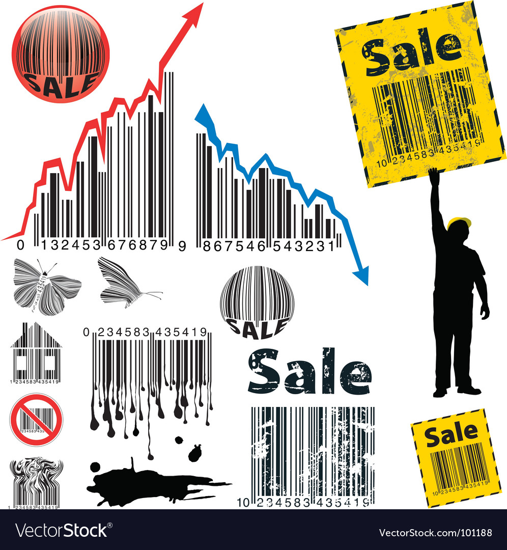 Barcode graph vector | Price: 1 Credit (USD $1)
