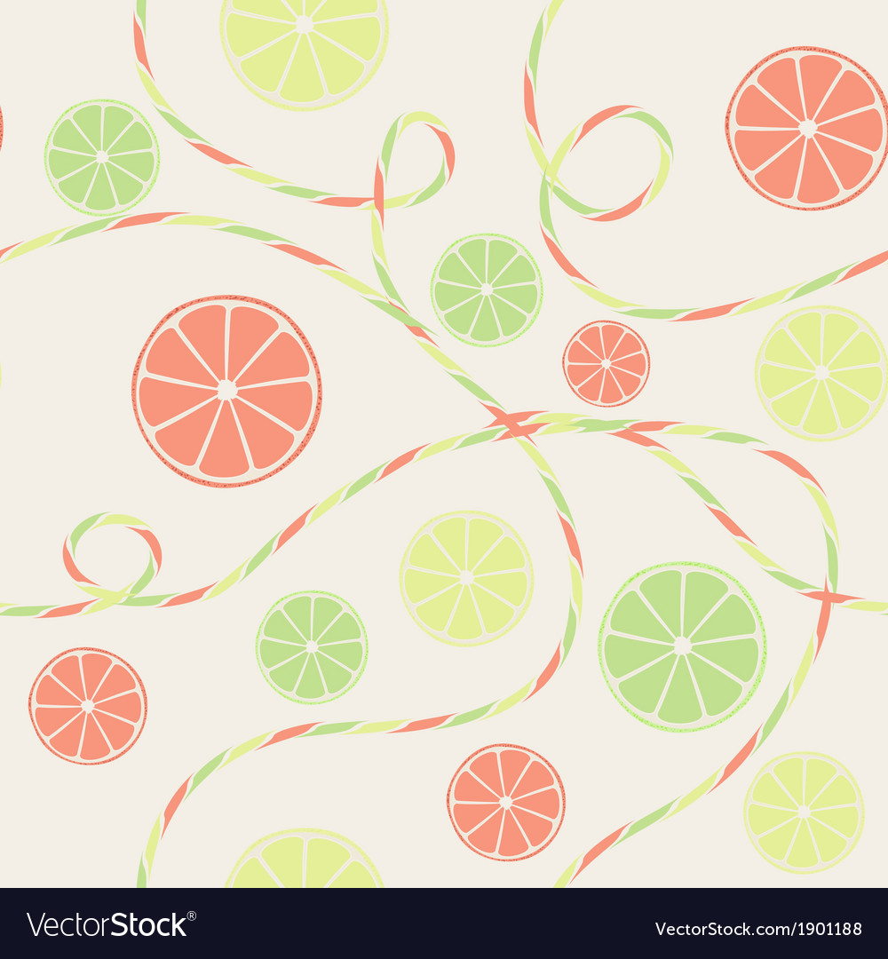 Citrus seamless pattern with orange lemon and lime vector | Price: 1 Credit (USD $1)